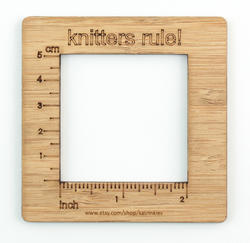Knitters Rule! - Gauge Swatch Ruler (2 inch measurement)