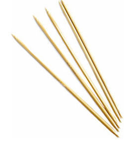 "8"" Double-point Bamboo Knitting Needles, Size 1"