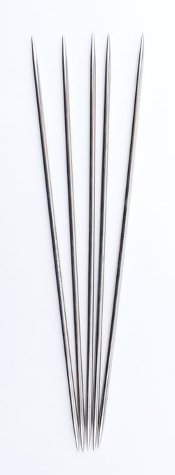 "NOVA Platina 6"" Double Point Size 1 Knitting Needles by Knitter's Pride"