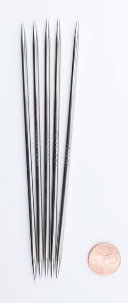 "NOVA Platina 6"" Double Point Size 4 Knitting Needles by Knitter's Pride"