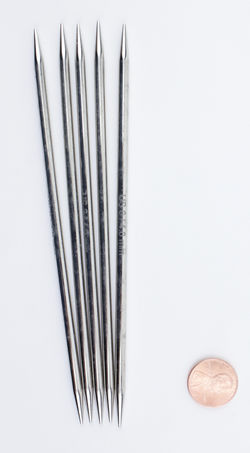 "NOVA Platina 6"" Double Point Size 6 Knitting Needles by Knitter's Pride"