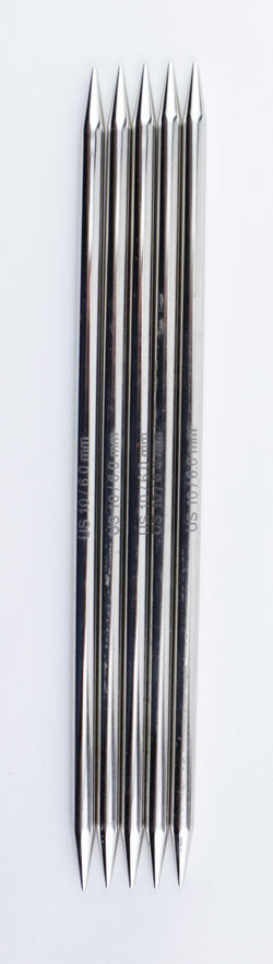 "NOVA Platina 8"" Double Point Size 10 Knitting Needles by Knitter's Pride"