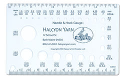 Halcyon Yarn Needle and Hook Gauge