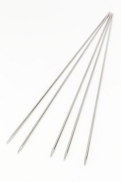 Addi Steel 8quot Double Point Size US 0000 125 mm Knitting Needles