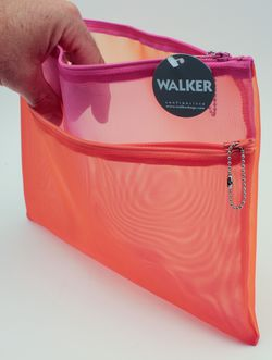 Walker Zip Case - (orange, fuchsia)