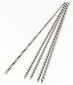 Addi Steel 8quot Double Point Size US 00 175 mm Knitting Needles