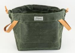Knitty Gritty Project Bag - Olive Green