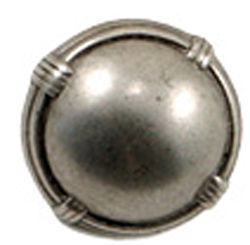Silver Tone Banded Dome Button 875 quot