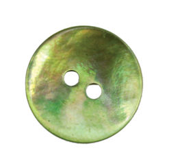 Green Pearl Button 34quot