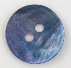 Blue Pearl Button 34quot