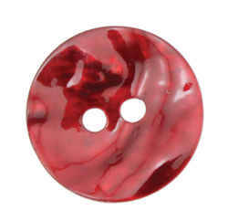 Red Pearl Button 34quot