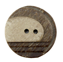 Two Tone Brown Button 1quot