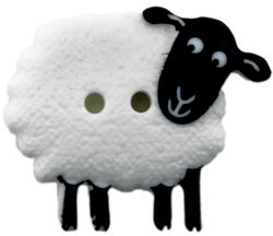 Sheep Button 78quot