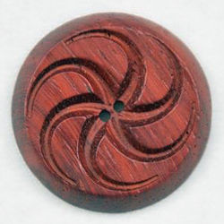 Wood Button Bloodwood by Alosada 1 12quot