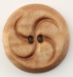 Wood Button Maple by Alosada 1quot