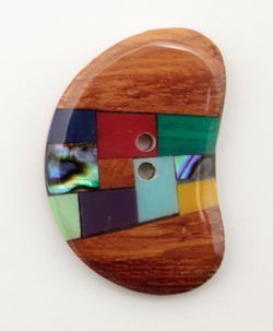 Wood Gems Shell 1 38quot Button