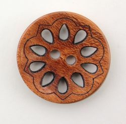 Wood Filigree 78quot Button