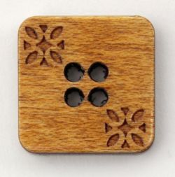 Natural Wood Square 34quot Button