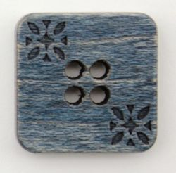Navy Wood Square 34quot Button