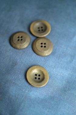 Corozo Khaki Button