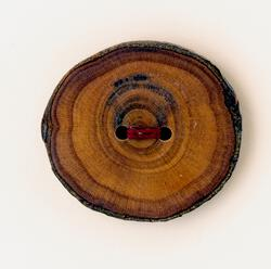 One XLarge Round Button  Mixed Woods