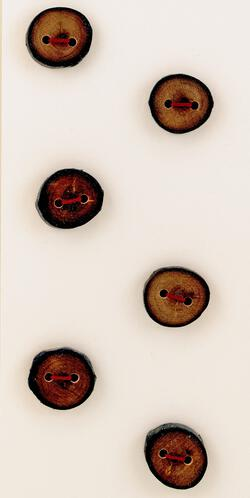 Six Small Buttons  Mixed Woods