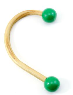 Sock Hook Natural Green Knob Christmas Stocking Holder