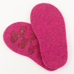 Childrenaposs Thick Felt Slipper Soles wLatex Grip 775quot  Fuchsia