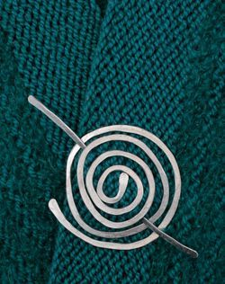 Flat Circle Aluminum Shawl Pin