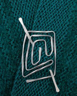 Twisted Square Aluminum Shawl Pin