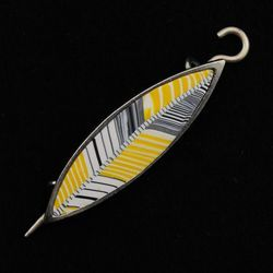 Goldfinch Songbird Shawl Pin by Bonnie Bishoff Designs