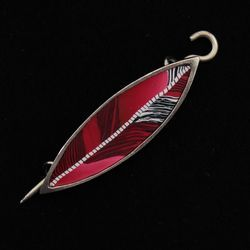 Cardinal Songbird Shawl Pin by Bonnie Bishoff Designs