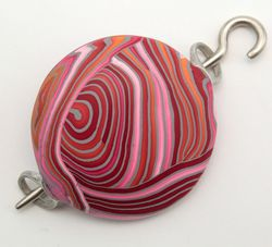 Ball-O-Yarn Pomegranate Shawl Pin by Bonnie Bishoff Designs