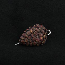 Wooden Pinecone Woodland Shawl Pin by Bonnie Bishoff Designs