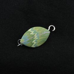 Mint Leaf Shawl Pin by Bonnie Bishoff Designs
