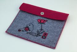 Mouse Felt Accessory Pouch by Mum n Sun Ink