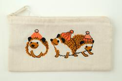 Wee Hedgehog Zip Pouch by Mum n Sun Ink