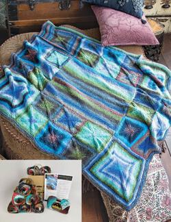 Perfectly Square Throw Blanket in Noro Taiyo color D