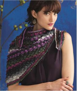 Hyacinth Stitch Shawl in Noro Silk Garden Light
