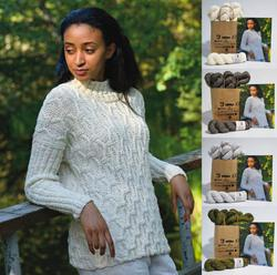 Rikki Sweater in Misty wool by Elsebeth Lavold