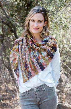 Perris Crochet Shawl in Giardino by Louisa Harding