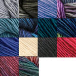 Malabrigo Silky Merino Yarn, approximately three inch tassel