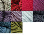 Swans Island Fingering Organic Merino Wool Yarn, approximately three inch tassel