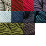Swans Island Worsted Organic Merino Wool Yarn, approximately three inch tassel
