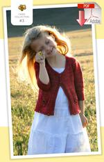 Knitting patterns Coastal Kids Wee Wildflower Cardigan - PDF Pattern Download