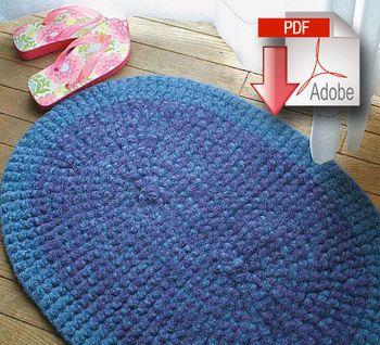 Crochet patterns Crochet Rug (Felted) - Pattern download