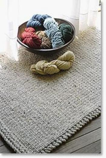 Knitting patterns Knitted Rectangular Rug - Halcyon Classic Rug Wool