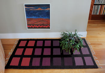 Weaving patterns Desert Squares Block Weave Rug