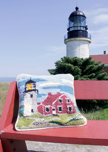 Rug Making patterns Seguin Lighthouse Focal Point  Hooking Pattern