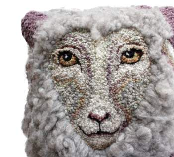 Rug Making patterns Sheep Portrait of Daphne Hooking Pattern